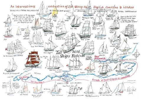 Tall Ships - postcard 3