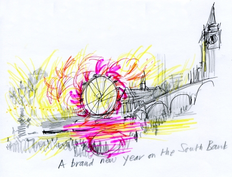 wheel with fireworks